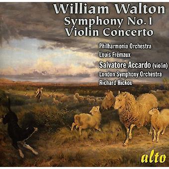 W. Walton - William Walton: Sinfonía n º 1; Importación de violín Concerto [CD] Estados Unidos