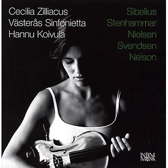 Sibelius/Stenhammarnielsen - Cecilia Zilliacus Plays Sibelius, Stenhammar, Nielsen, Svendsen, Nelson [CD] USA import