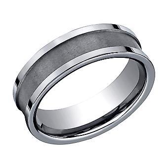 Mens 7mm Comfort Fit Tungsten Wedding Band