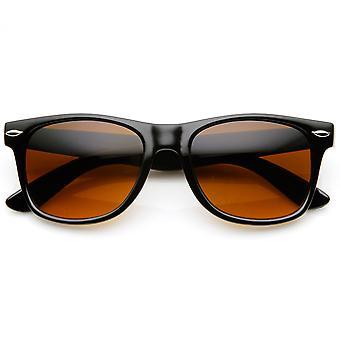 Blue Blocking Driving Horn Rimmed Sunglasses Amber Tinted Lens