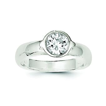 925 Sterling Silver Solid CZ Cubic Zirconia Simulated Diamond Ring Jewely Gifts for Women - Ring Size: 6 a 8