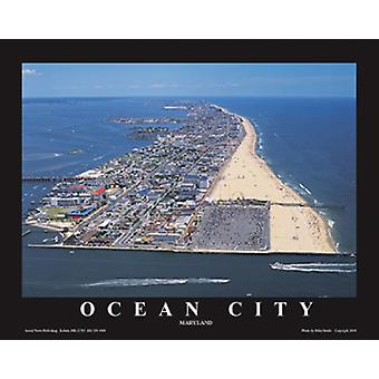 Ocean City Maryland Juliste Tulosta Mike Smith (28 x 22)