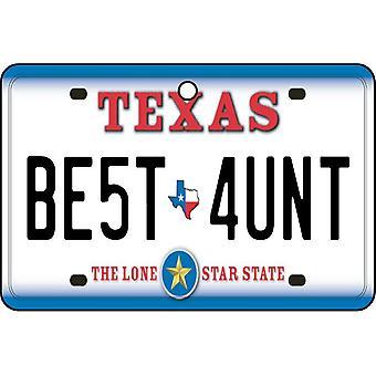 Texas - Best Aunt License Plate Car Air Freshener