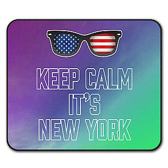 Keep Calm USA New York  Non-Slip Mouse Mat Pad 24cm x 20cm | Wellcoda