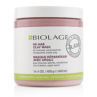 Matrix Biolage R.a.w. Re-hab Clay Mask (for Stressed Sensitized Hair) - 400ml/14.4oz
