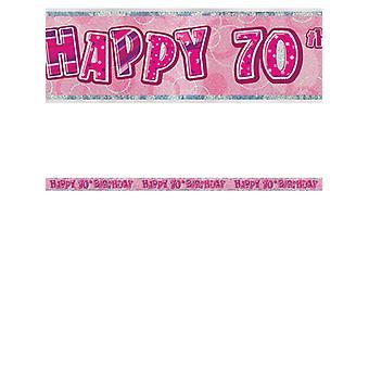 Bannière anniversaire Glitz rose 70thanniversaire prisme
