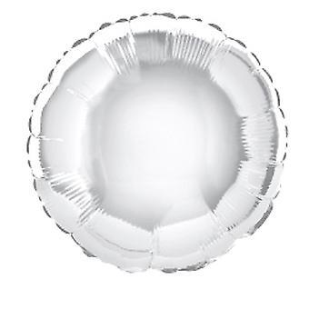 Folie ballong runt fast metalliskt Silver