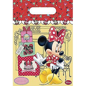 Borsa borse borse da festa Minnie bambini festa compleanno 6 pezzi