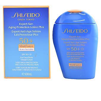 Shiseido ekspert solen Aging beskyttelse Lotion Plus Spf50 + 100 Ml Unisex