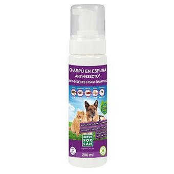 Men For San Champu Espuma Anti-Insectos Perros Y Gatos 200 Ml