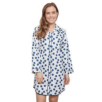 Cyberjammies 3844 Frauen Zoe White Spotted Schlaf-Shirt Nighty Nachthemd