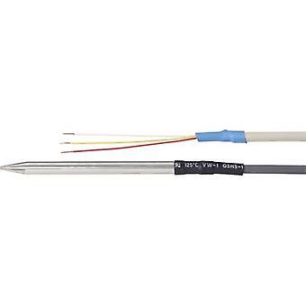 Temperaturfühler Sensor Typ Pt100 Temperaturmessung Palette-100 bis 200 ° C Kabellänge 3 m Sensor Durchmesser 6 mm