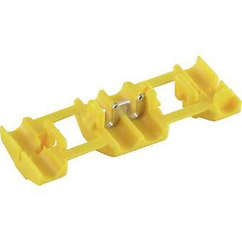 Conector de alimentación TE conectividad 735411 baja flexible: 4-6 mm² rígido: 4-6 mm² número de pines: 2 1 PC amarillo