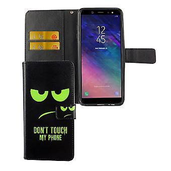 自分の携帯電話のグリーンに手を触れないでください携帯電話サムスン銀河 A6 に加えて 2018、モバイル ポーチ