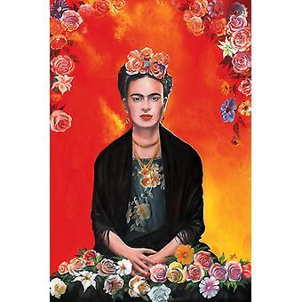Frida Kahlo Meditation Poster Print