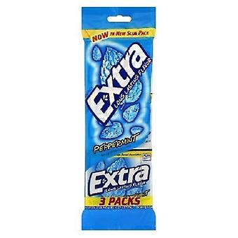 Menthe poivrée extra sucre gomme gratuit 3 Pack