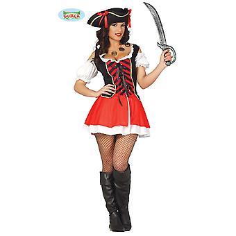 Sexy Pirate Carnavalul de carnaval motto partid costum doamnelor Red Black Corsarin