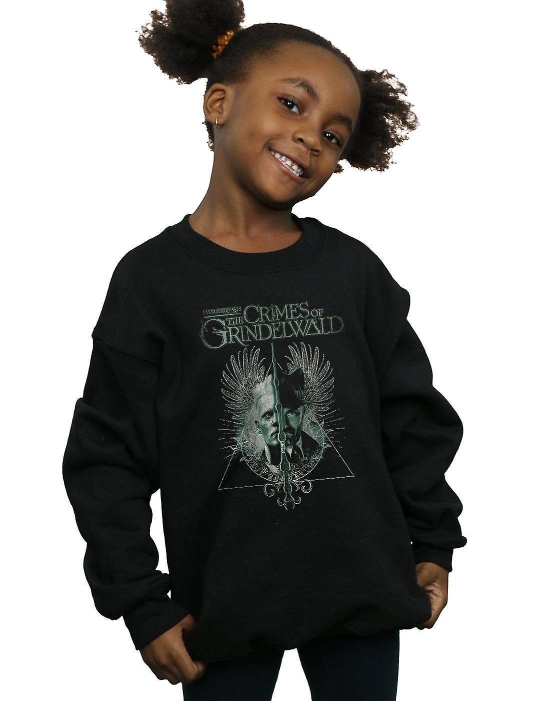 Fantastic Beasts Girls The Crimes Of Grindelwald Wand Split Sweatshirt