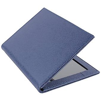 Byron and Brown Florence 2 Fold Leather Travel Frame 5x3.5 - Blue