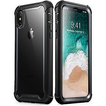 Xs Max Case, de iPhone de [Ares] cheio-corpo robusto para-choques caso protetor de tela com built-in (liberação de 2018) (preto)