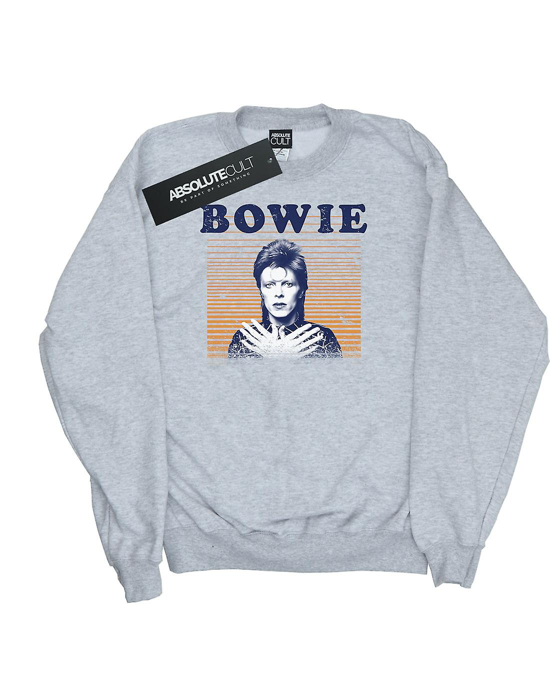 David Bowie Women's Orange Stripes Sweatshirt