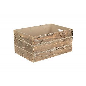Effetto rovere grandi extra cassa di deposito di legno