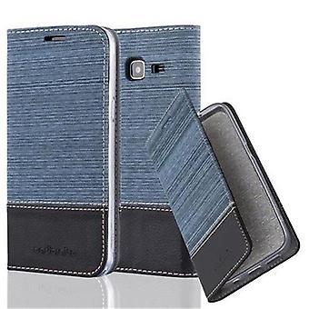 Cadorabo tilfelle for Samsung Galaxy J3 2016 tilfelle tilfelle dekselet - telefonveske med magnetisk lås, stativ funksjon og kortrom - Case Cover Beskyttende tilfelle Bok Folding Style