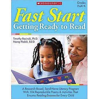 Snelle Start: Klaar om te lezen: rangen PreK-K [met 30 motiverende Stickers]