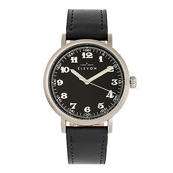 Elevón Felix banda de cuero reloj - plata/negro