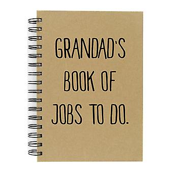 Grandad's Book Of Jobs To Do A5 Kraft Notebook