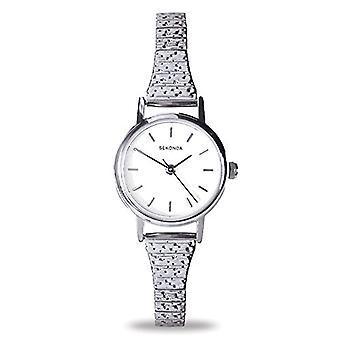 Sekonda pols horloge, analoog, vrouwelijk, roestvrij staal, zilver
