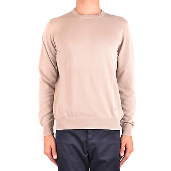 Fay Ezbc035014 Men's Bege Cotton Sweater