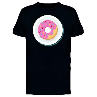 Donut On Plate Flat Style Tee Men's -Image by Shutterstock