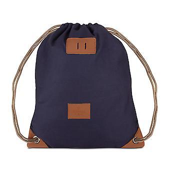 Bolsas de gimnasio patrón mochila deportes gimnasio bolso Gymsack algodón azul 6854