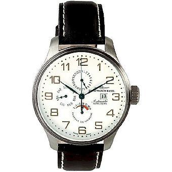 Zeno-watch mens orologio OS potere retrò riserva dual time, 8055-f2