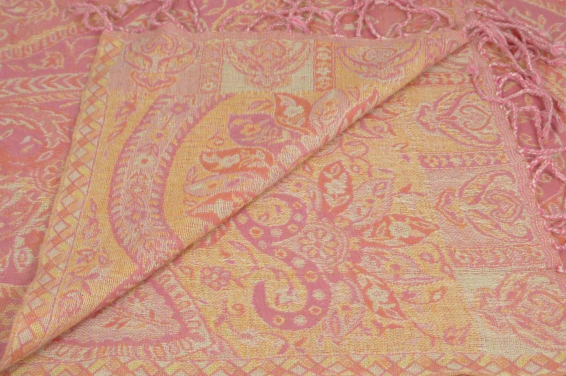 Muffler Scarf 6663 in Fine Pashmina Wool Heritage Range by Pashmina & Silk
