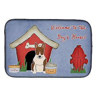 Dog House Collection Bull Terrier Brindle Dish Drying Mat