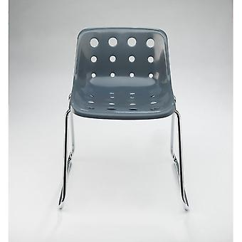 Loft Robin Day Sled Charcoal Grey Plastic Polo Chair