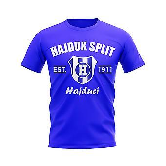Hajduk Split Established Football T-Shirt (Royal)