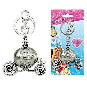 Metal Key Chain - Disney - Princess - Cinderella Carriage Pewter New 86103