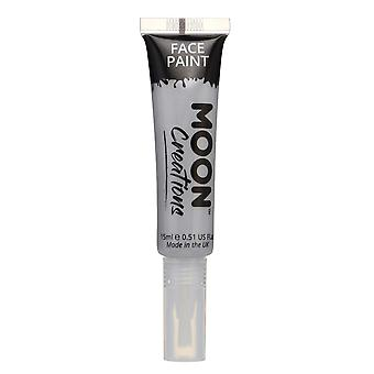 Face & Body Paint with Brush Applicator by Moon Creations - 15ml - Grey