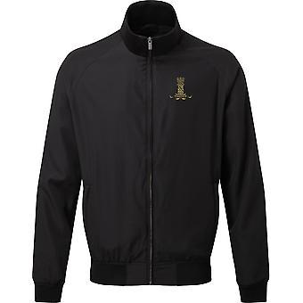 11th Hussars - Licensed British Army Embroidered Harrington Jacket