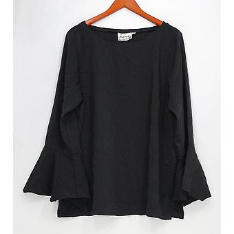 Linea by Louis Dell'Olio Women's Top Pullover Blouse Black A302549