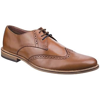Lambretta Mens Franky Brogue King Lace Shoe Tan