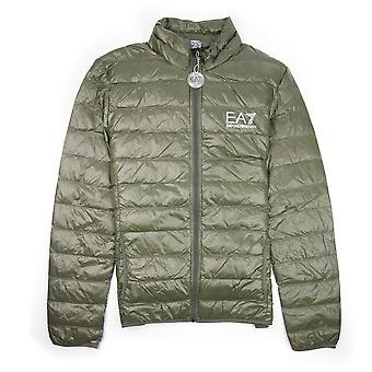 EA7 Emporio Armani EA7 Funnel Neck Lightweight Pack Puffa Jacket Forest Green
