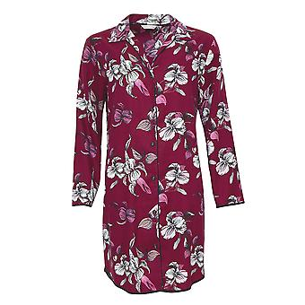 Cyberjammies 4270 vrouwen ' s Alice Bourgondië rode mix Floral katoen Nachthemd