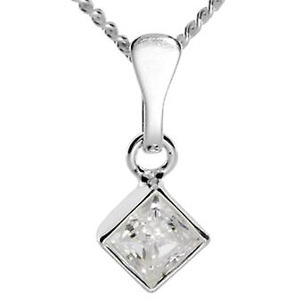 InCollections 5410200016401 - Chain with children's pendant with cubic zirconia - silver sterling 925