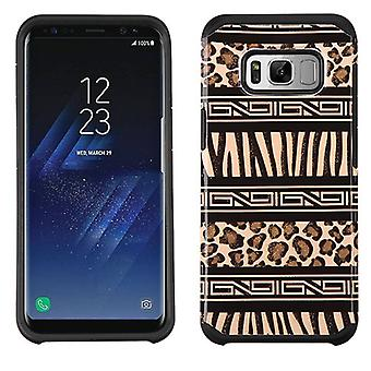 ASMYNA Zebra SkinLeopard Skin/Black Advanced Armor Protector Cover for Galaxy S8 Plus