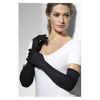 Guanti donna lungo Black costume accessorio