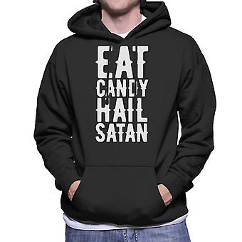 Eat Candy Hail Satan Men's Hooded Sweatshirt